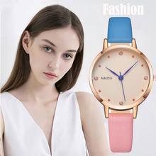 Naidu модные часы персональные роскошные женские кварцевые наручные