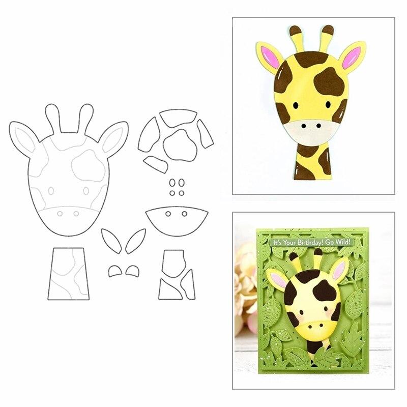 Ремесло Рождество довольно жирафа животных друзья новая 2020 DIY, иных металлических Трафаретный вырубной штамп комплект тиснение изготовлен...