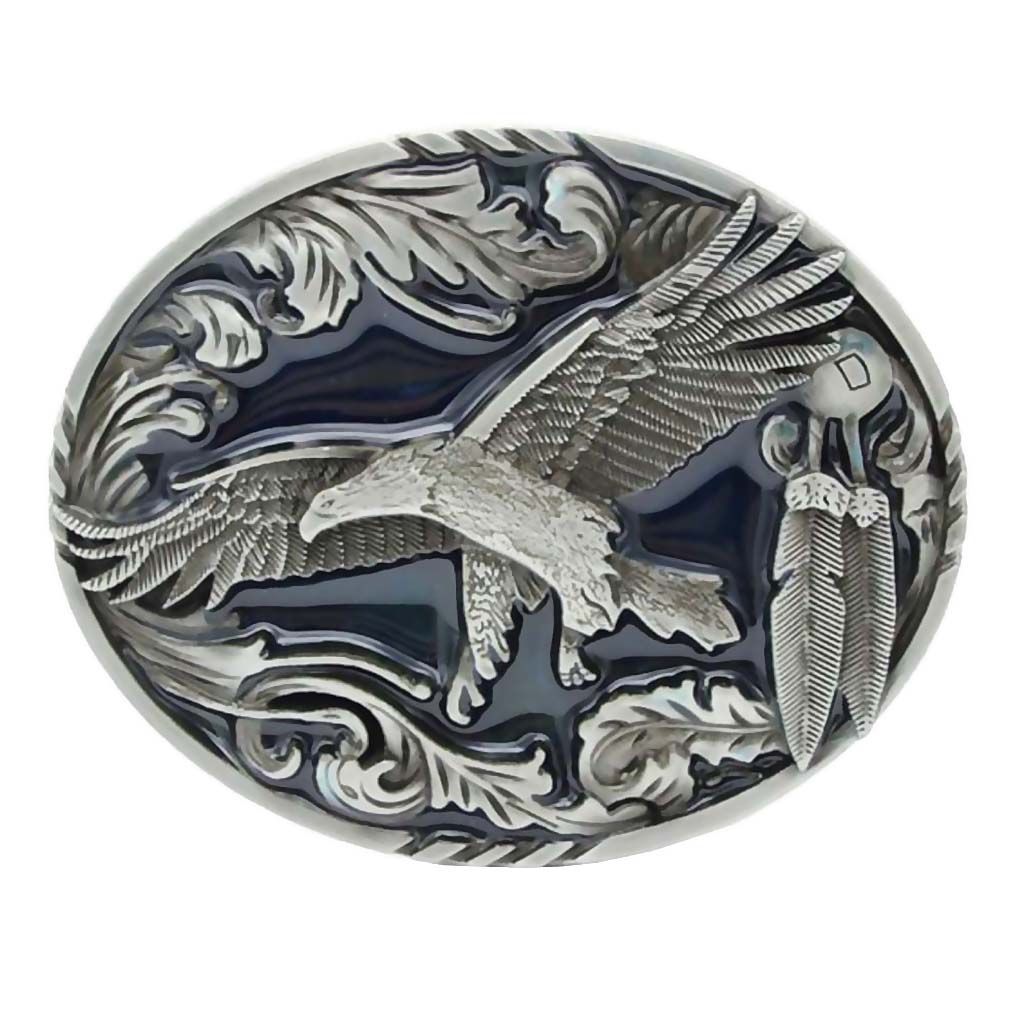 Fashion Belt Buckle American Western Cool Cowboy Style Belt Buckle Eagle Buckle Belt Head Mens