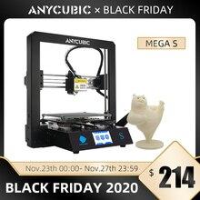 Anycubic 3Dเครื่องพิมพ์Mega S Filamentการพิมพ์Fullกรอบโลหะเกรดอุตสาหกรรมความแม่นยำสูงImpresora 3dชุดImprimante