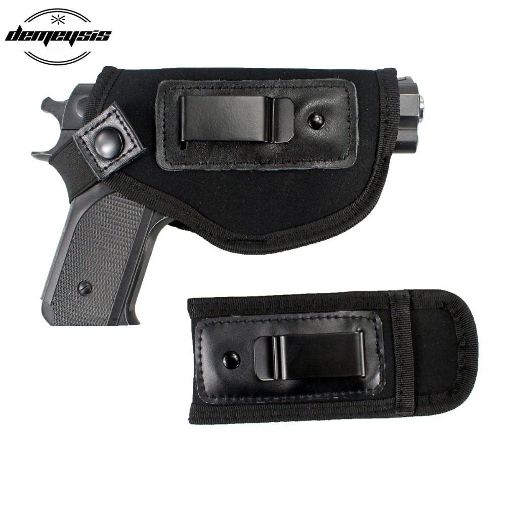 Universial Gun Concealed Carry Black Pistol Holster Waist Belt Handgun Carrier