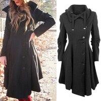 Winter jacket women medium long irregular woolen coat women 2020 winter hooded woolen fashion slim women coat female W831