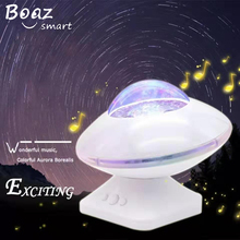 купить Ocean Starry Sky Aurora LED Music Speaker Flashing Light Projector Novelty Lamp Gift for Kids Children Baby living/Bedroom Decor онлайн