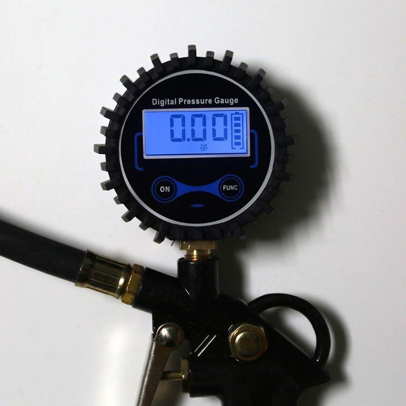 Car Truck Air Tire Inflator with Digital Pressure Gauge 200 PSI Air Chuck Hose Pistol Type in Pressure Gauges from Tools
