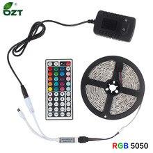Bande lumineuse LED RGB 5050, 12v, étanche, Flexible, 5/10/15M, ruban d'éclairage avec télécommande Bluetooth/WiFi, adaptateur secteur, pour chambre