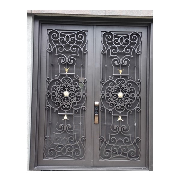 Shanghai Hench Brand China Factory 100% Custom Made Sale Australia Front Door With Wrought Iron And Glass