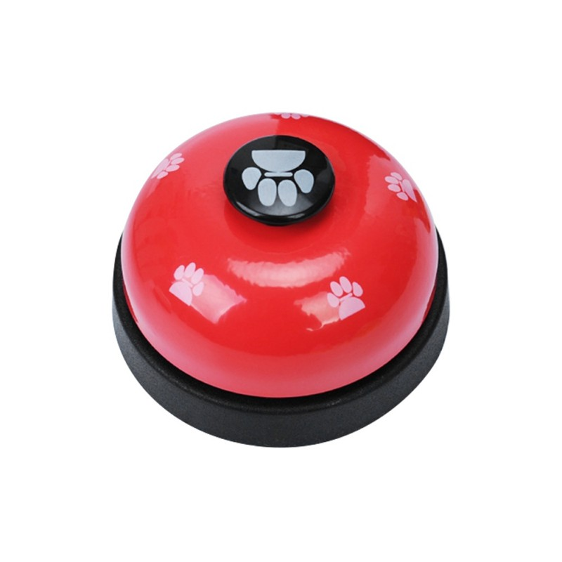Pet Toy Training Called Dinner Small Bell Footprint Ring Dog Toys For Teddy Puppy Pet Call-4