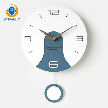 Wall Clock Swing Living Room Personality Art Decoration Clocks Nordic Hanging Mute Table Modern Design Bedroom Clock Quartz