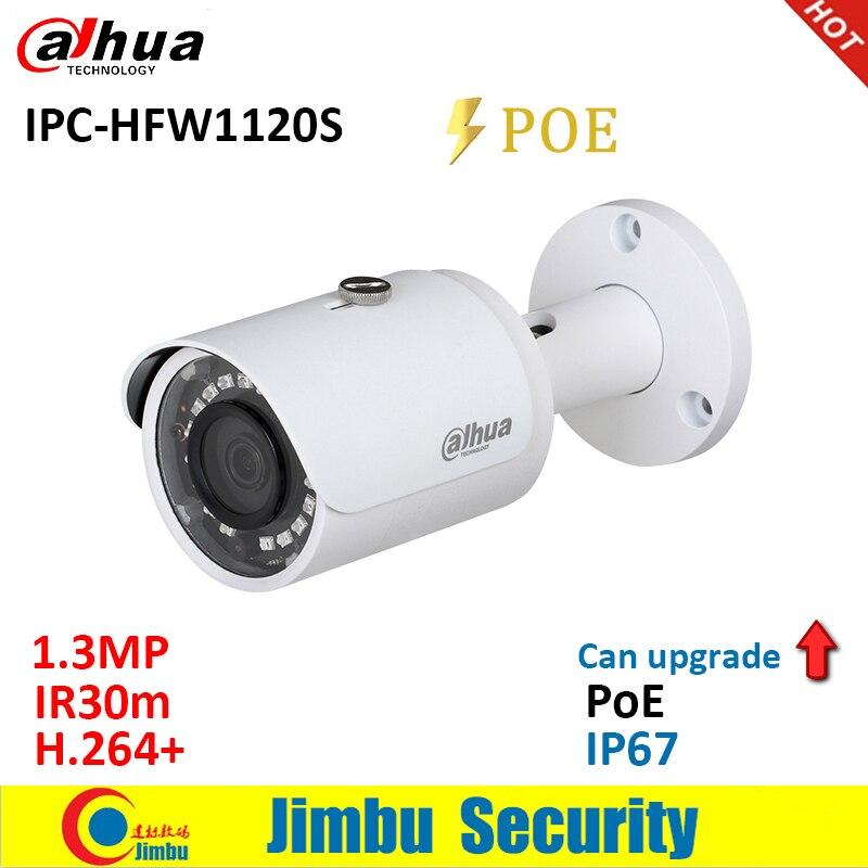 Dahua  IP Camera 1.3MP IPC-HFW1120S POE IR30m H.264+ Waterproof IP67 English Firmware Can Be Upgraded Bullet Camera  CCTV