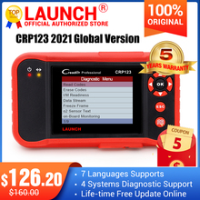 Launch creader CRP123 for Engine Transmission AirBag ABS x431 crp 123 code reader scanner better than Creader vii+ ms509