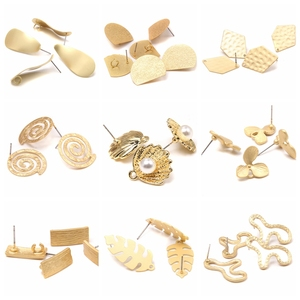 10pcs Zinc Alloy Golden Base geometry Earring Connector Charm For DIY Earrings Jewelry making finding supplies Accessories women