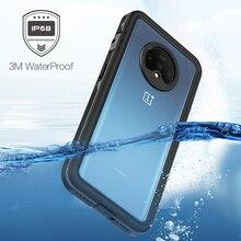 Haissky, capa de telefone à prova d água ip68, para oneplus 7t, proteção completa, natação, mergulho, para oneplus 7t capa com estojo