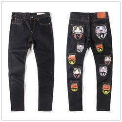 Аутентичные 2020 новые Evisu Высокое качество модные повседневные хип хоп мужские джинсы с принтом Осень Зима Мужские дышащие прямые брюки