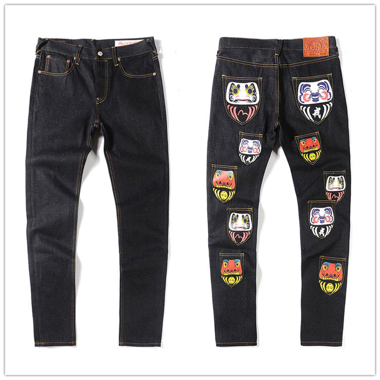 Authentic 2020 New Evisu High Quality Fashion Casual Hip Hop Men's Jeans Printing Autumn Winter Men's Breathable Straight Pants