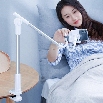 360 Rotating Flexible Long Arm Lazy Phone Holder Stand Adjustable Desktop Bed Tablet Clip For iPhone Xiaomi Mobile Mount Support