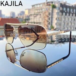 Image 2 - Очки солнцезащитные мужские квадратные, винтажные брендовые дизайнерские солнечные очки в стиле ретро, 2020