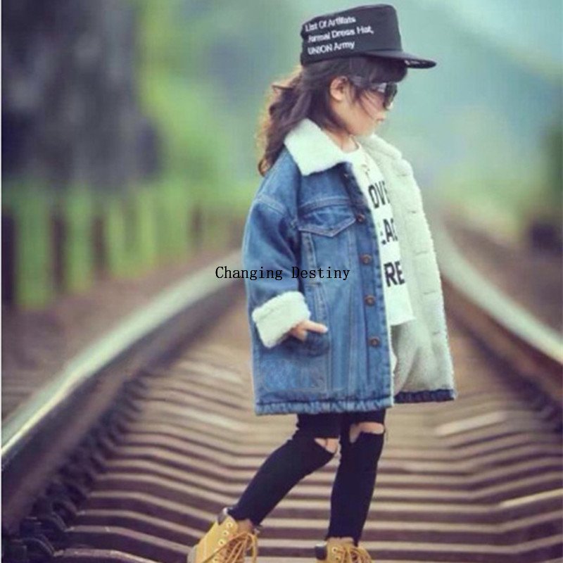 Jackets Coats Jeans Cashmere Girl Boys Kids Children Wear 3-8-Years-Old Plus Long Wool