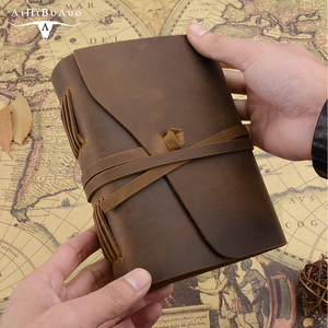 Image 4 - Caderno de couro genuíno artesanal diário 5x7 polegadas papel environmetal vintage caderno encadernação diário para homem e mulher