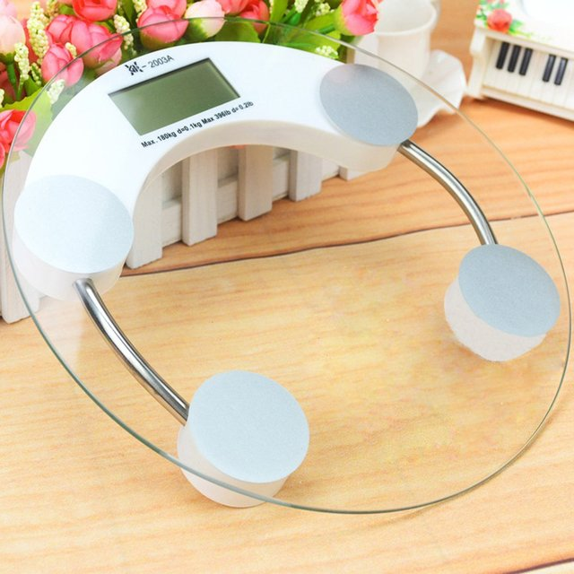 180Kg 5mm/4mm Household Digital Electronic Weighing Body Weight Round Fitness Glass Scale Hot Selling Market Trend