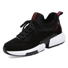 2019 New Fashion Women Sneakers Flats Shoes Black Ladies Platform Comfortable Breathable Tenis Feminino A0040