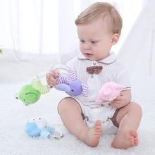 0 6 12 13 24 Months Educational Toys Rattles For Baby Kids Toys From 0 Developmental Newborn Infants Hand Grip Cute Animals Frog