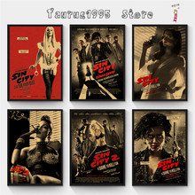 New Sin City kraft poster Retro Poster Vintage poster Wall Decor For Home Bar Cafe Personalised Room Decoration(China)
