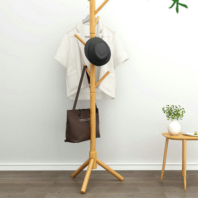 Solid Wood Coat Rack  1