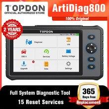 TOPDON ArtiDiag800 OBD OBD2 Car Diagnostic Tool Automotive Scanner Auto Scan Tools Diagnost Tools All System PK CRP909 E MK808