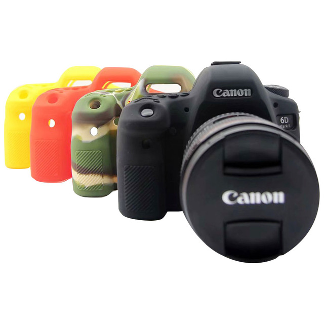 CAENBOO Dành Cho Canon EOS 6D Mark II Túi Cao Su Silicone Mềm Bảo Vệ Thân Thể Cover ốp Lưng Bao Da Cho Canon EOS 6D Mark2 Túi