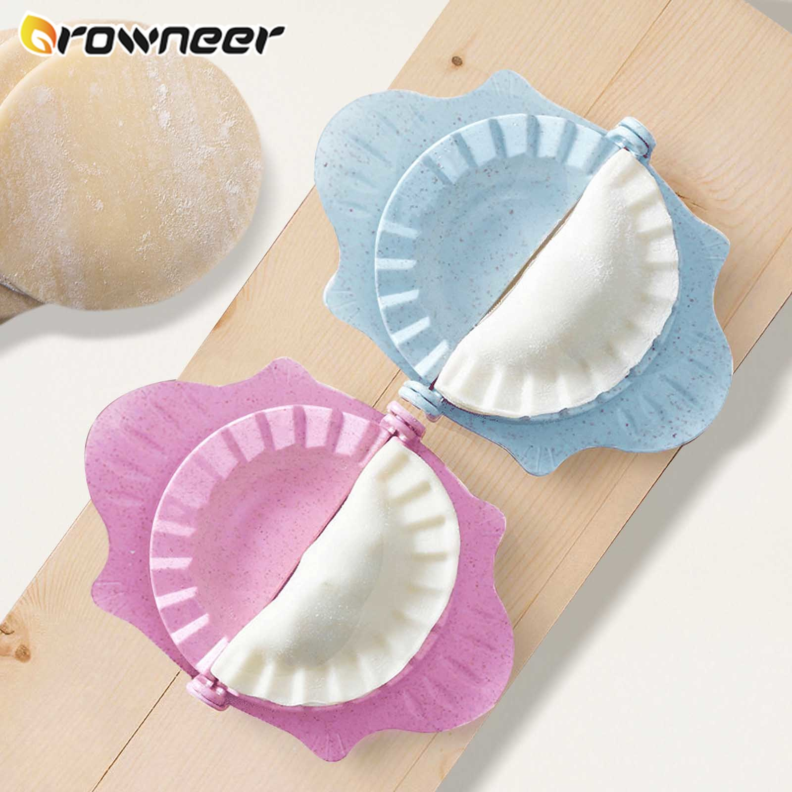 Dumpling Making helper Wheat Straw Jiaozi Mold colorful Non-toxic Pastry Dumplings Molds easy Kitchen Round Face Peel Gadgets