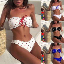 Bikini Set Sexy Polka Dot Bikini Women 2020 Two Piece Swimsuit Push Up Swimwear Bathing Suit Brazilian Beach Wear Swimming Suit