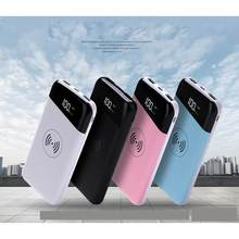 New Wireless Charger 20000mAh Power Bank Mobile Phone Fast Charging Powerbank for iPhone Samsung 18650 Battery Pack(China)