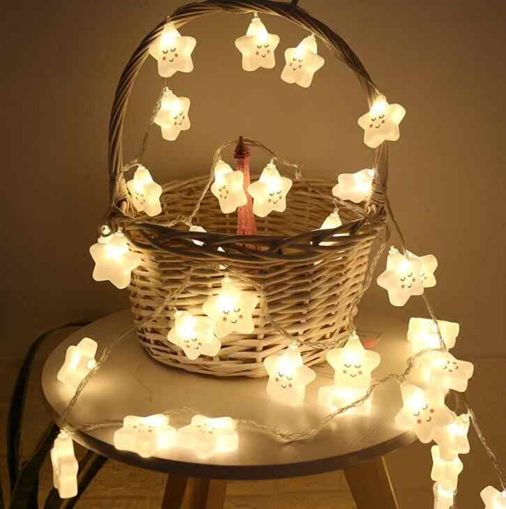 1.5m 10Led Led star lights string ball battery string lights Christmas decoration lights