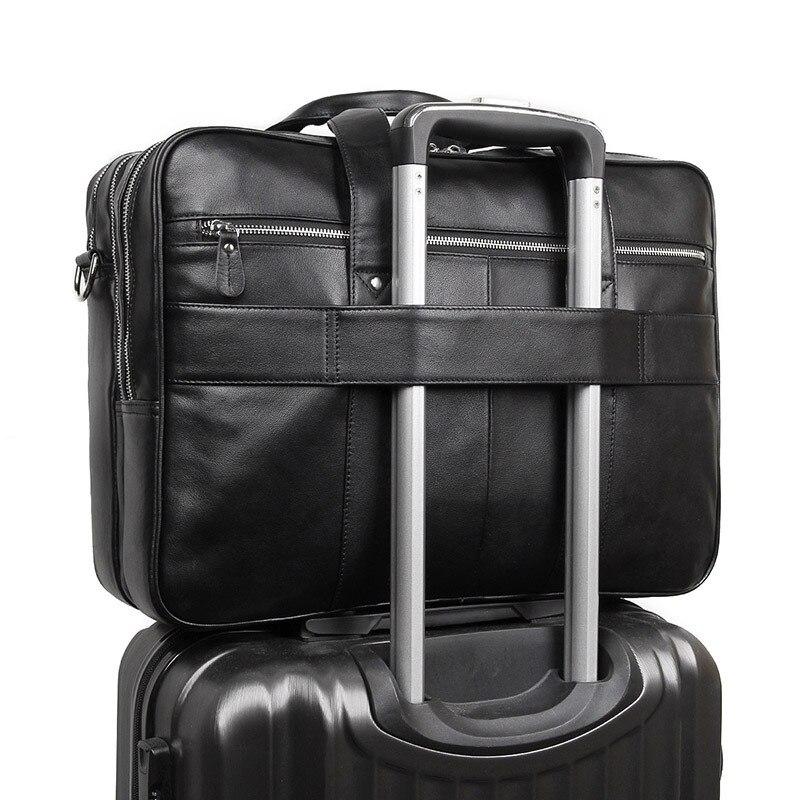 MAHEU Hohe Qualität Männer Aktentasche Tasche Auf Trolley Business Handtaschen Für 17 Zoll Computer Tasche Schwarz Braun Neue Mode männer Taschen - 3