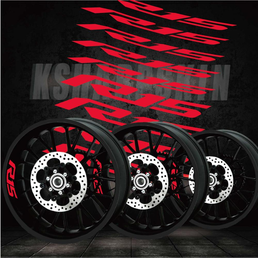 New Motorcycle Stickers Personality Tire Film Reflective Decorative Decals For YAMAHA  R15