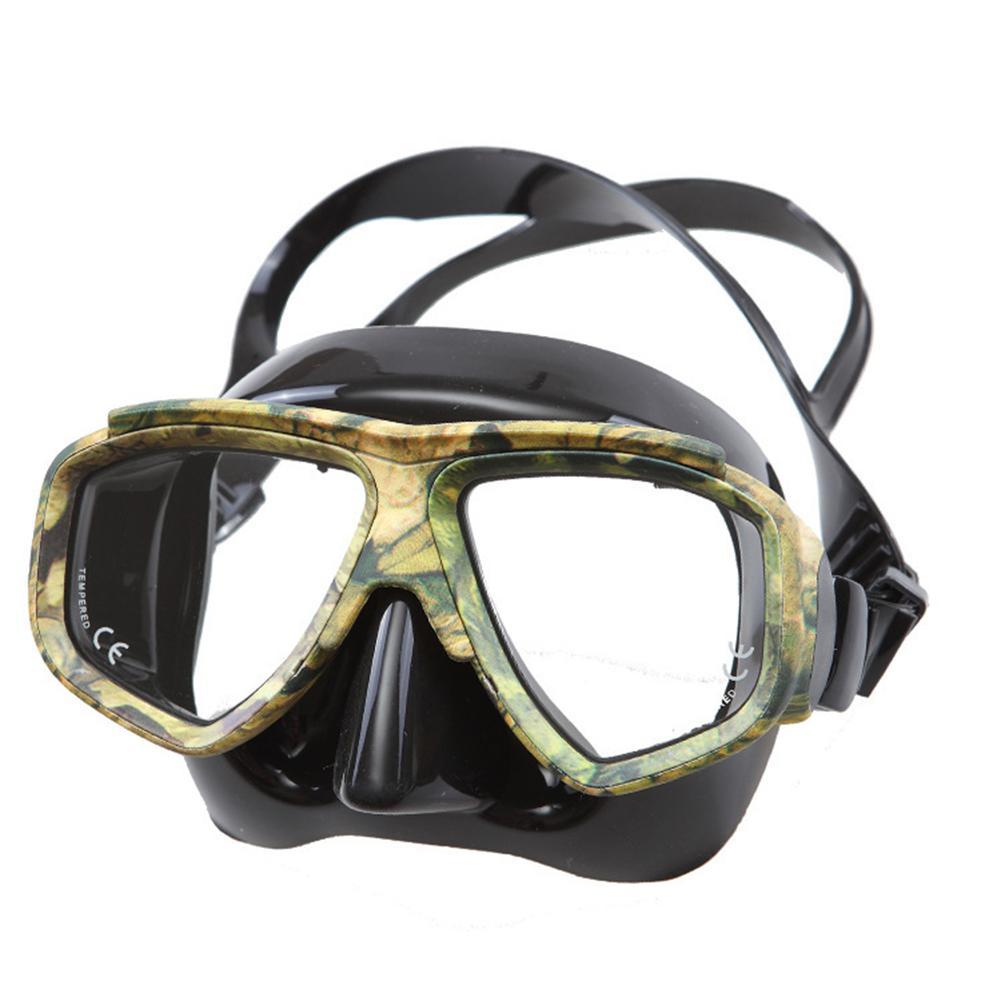 HobbyLane Professional Disguise Camouflage Scuba Dive Mask Myopic Optical Lens Snorkeling Gear Spearfishing Myopia Goggles