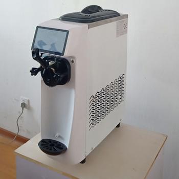 Komercyjna elektryczna maszyna do lodów miękka maszyna do lodów maszyna blatowy maszyna do lodów wyświetlacz LCD tanie i dobre opinie 500 ml CN (pochodzenie) GT22W Chłodzenie powietrzem 3 8L 220V 50HZ 1050w R404a 42KG 1 2L 21*55 4*74 cm