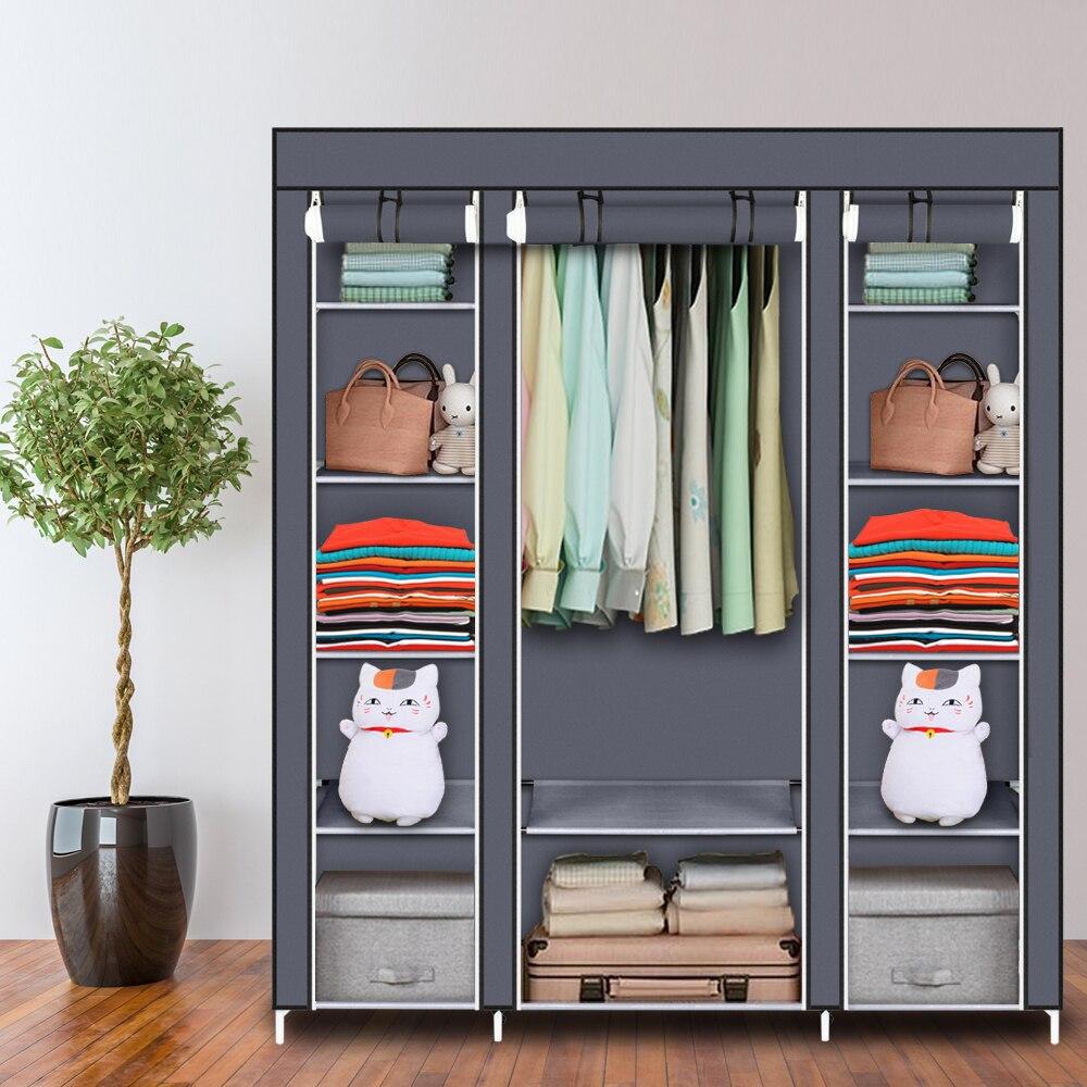 Non-woven Cloth Large Capacity Wardrobe Folding Portable DIY Wardrobe Clothes Storage Cabinet Closet Home Furniture