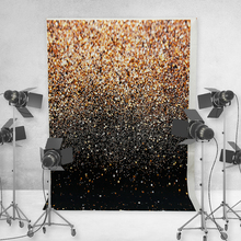 Photographic Background Vinyl Party Glitter Black Gold Dot Photo Studio Backdrop Photography Background for Photo Studio vinyl photography backdrop vintage photo studio photographic background flower wall floral newborns kids background 5x7ft f1913