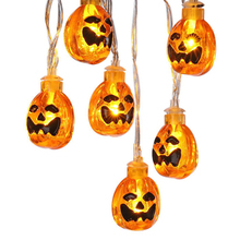 10 LED Halloween Pumpkins String Lights Lanterns Lamp For DIY Holiday Christmas Party Garden Decoration Light