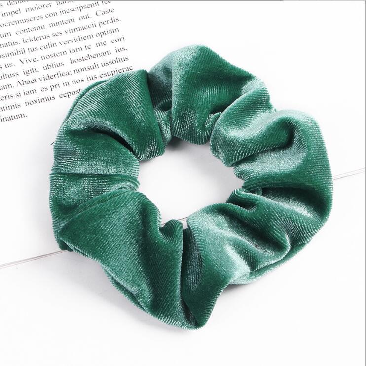 33 цвета, корейские Бархатные резинки для волос, эластичные резинки для волос, одноцветные женские головные уборы для девушек, заколки для волос с конским хвостом, аксессуары для волос - Цвет: Fruit Green