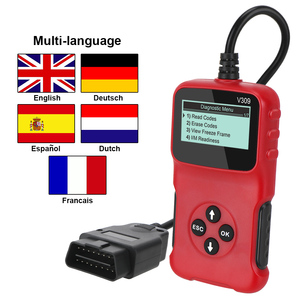 Image 1 - V309 OBD2 Code Reader OBD 2 Scanner OBDII Auto Diagnose Werkzeug Stecker und Spielen Digital Display Auto Zubehör ULME 327