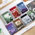 Dimi 50 Blätter Natürliche Landschaft Schreibwaren Aufkleber Buch Ästhetische Landschaft Nette Kugel Journaling Telefon Fall Dekoration Aufkleber