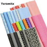 Teramila 7 pçs 40x50cm diy retalhos tecido de algodão telas estofando tecido para costura costura costura pano toalha artesanal