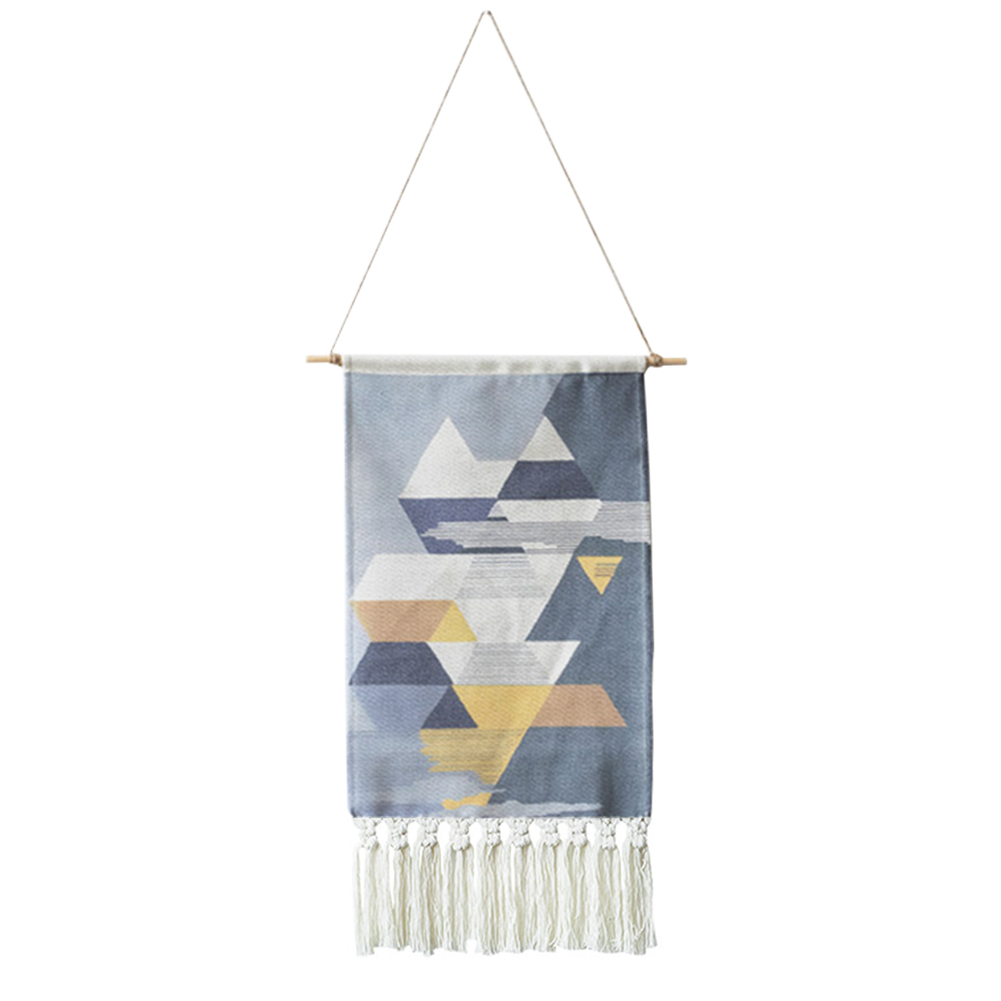 Accessories Wall Decoration Simple Hanging Cloth Room Geometric Pattern Macrame Tapestry Gift Art Decor Office Wedding Favors