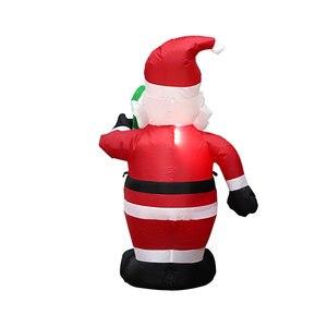 Image 4 - Gonfiabile Statua di 2021 Festa Di Natale Decor Hotel Gonfiabili Babbo natale Carino 120 centimetri Nuovo Anno Decorazione Della Casa kerst natal