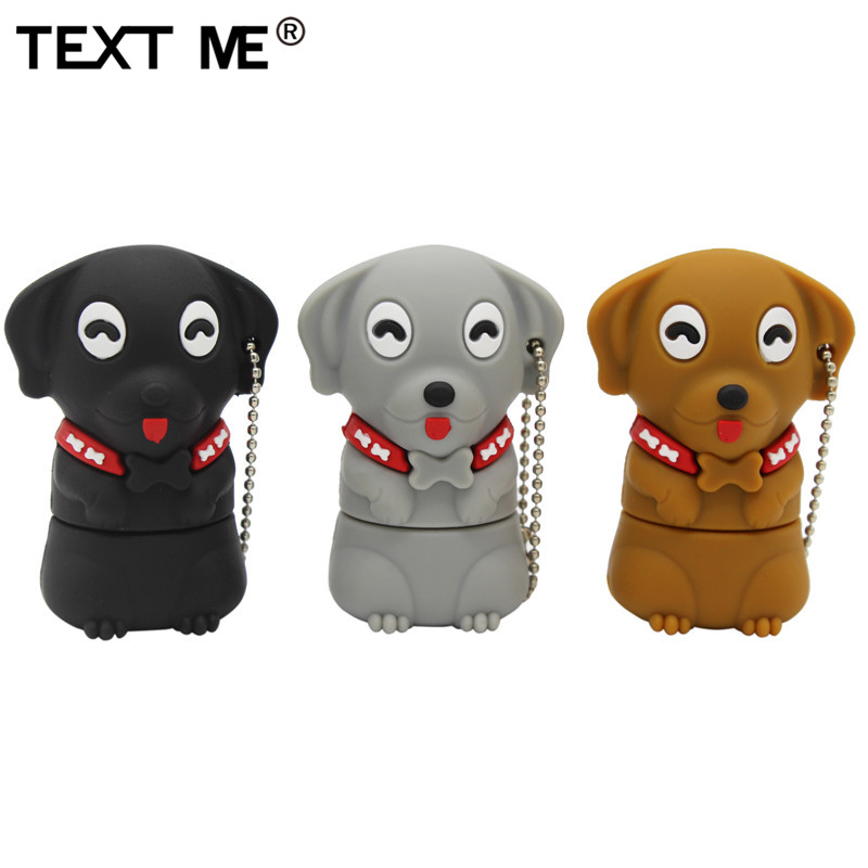 TEXT ME 64GB Cartoon  Mini Dog Usb Flash Drive Usb 2.0 4GB 8GB 16GB 32GB  Pendrive Gift U Disk