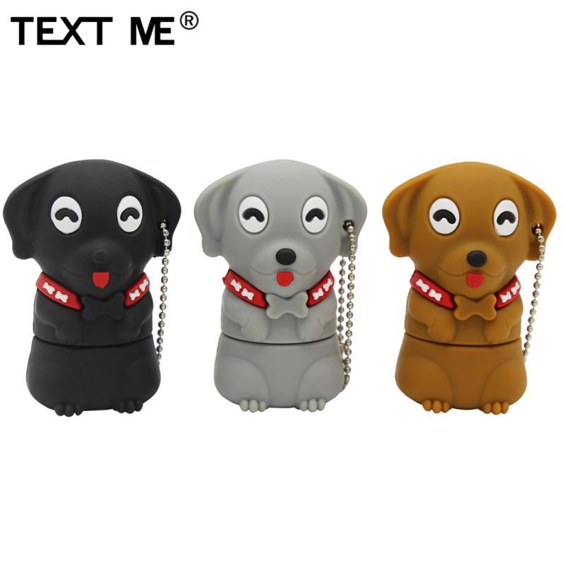 TEXT ME 64GB Cartoon  Mini Dog Usb Flash Drive Usb 2.0 4GB 8GB 16GB 32GB  Pendrive Gift U Disk