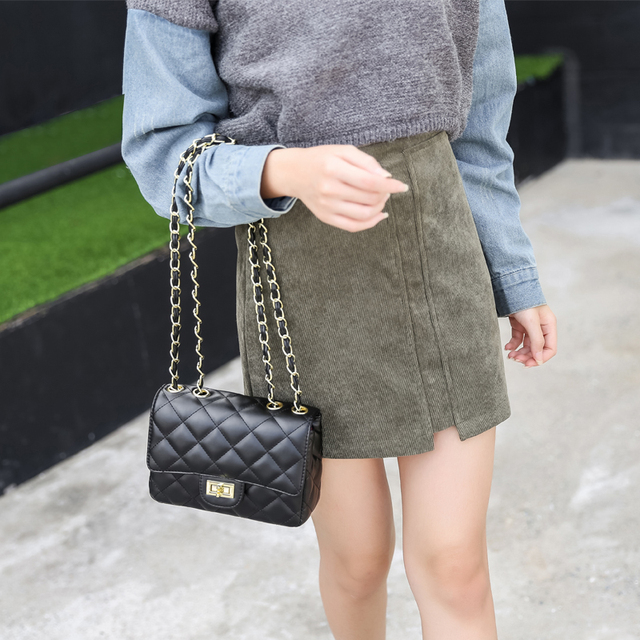One shoulder bag women's chain pu leather designer