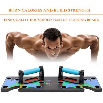 9 w 1 deska treningowa Push Up ABS przyrząd do treningu mięśni brzucha sportowy sprzęt do ćwiczeń w domu do kulturystyki do treningów i ćwiczeń tanie i dobre opinie CN (pochodzenie) 25 cm Drop Shipping